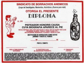 Diploma Borracho Honoris Causa
