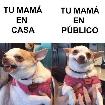 mamá en casa vs en público