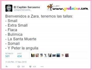 Las Tallas de Zara