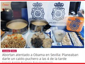 Atentado a Obama en Sevilla
