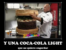 Y una Coca Cola Light