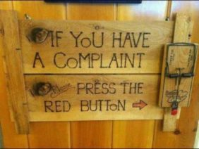 If You Have a Complaint