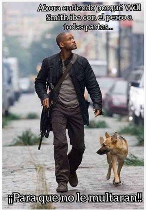 Will Smith Ya Sacaba a su Perro